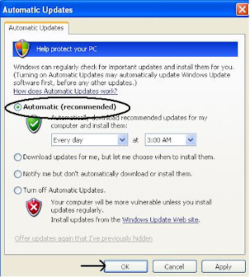 Turn ON Automatic Updates to Protect Your Computer Against Viruses and Worms