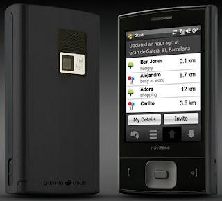 garmin-asus-nuvifone- m20 black overview