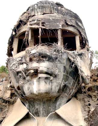 The Head of Ferdinand Marcos, Philippines