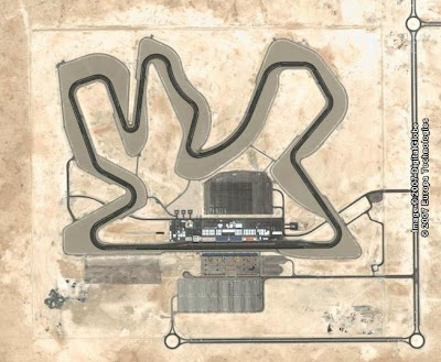 Google Earth image of Losail racing track