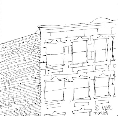 Daily Draw: Buildings Drawn on the Train