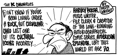 Keith Knight honors Harvey Pekar.