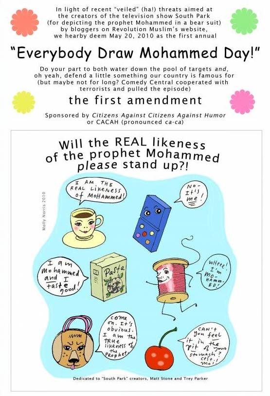 The original Everybody Draw Mohammed Day poster by Molly Norris