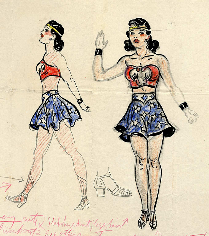 original Wonder Woman concept art by Harry G. Peter