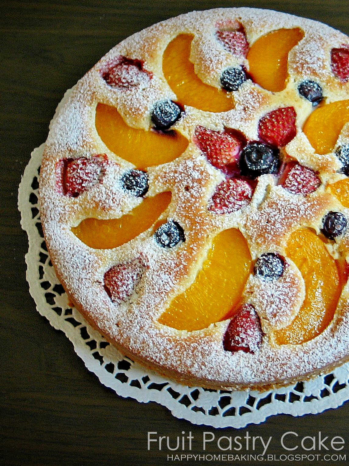 Happy Home Baking Fruit Pastry Cake