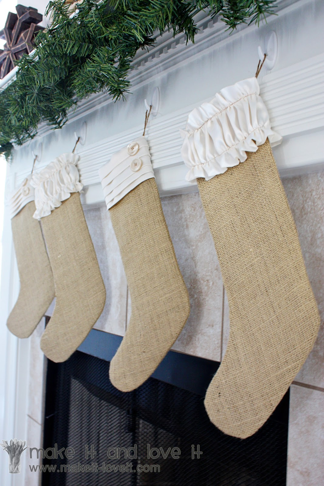 Burlap Christmas Stockings.Burlap Christmas Stockings Make It And Love It