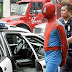 Spiderman Takes His Perp Walk