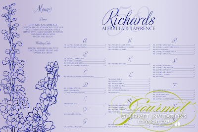 th wedding anniversary seating chart also gourmet invitations rh gourmetinvitations