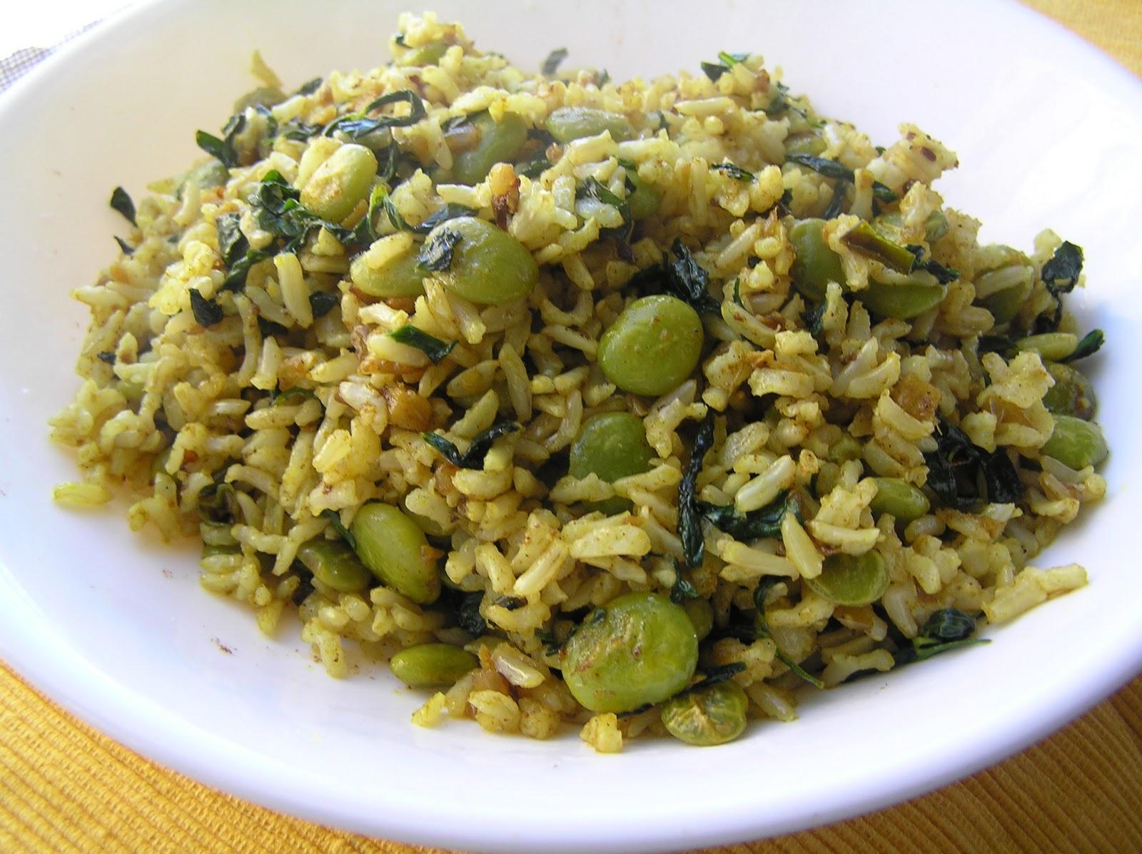 The Melting Pot Methi Amp Lima Beans Rice