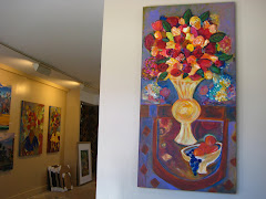 Joyce Lieberman paintings at Seidman Gallery July 2010