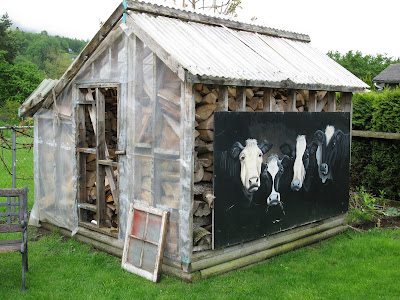 From greenhouse to garden shed - part 1 via Funky Junk Interiors