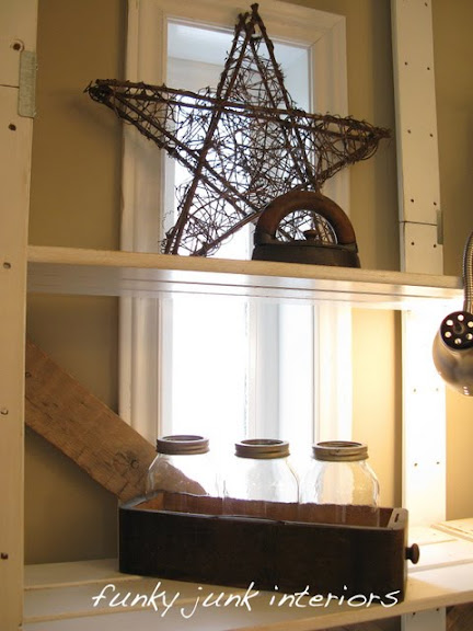 office junk accessories via Funky Junk Interiors