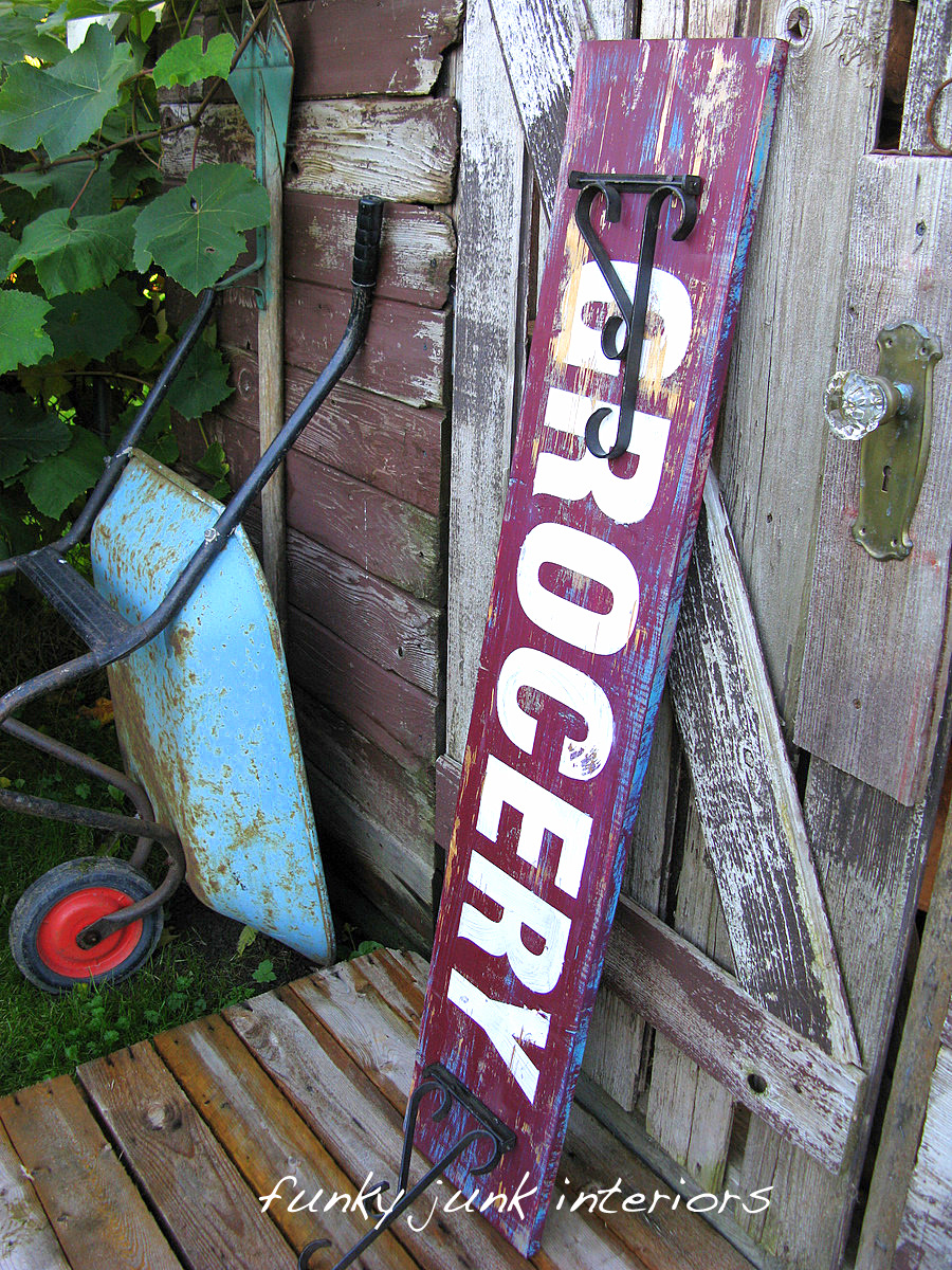 How To Make Old Signs Via Funky Junk Interiorsfunky Junk