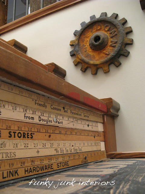 crate stairway / How to make a giant number or letter out of plywood... for FREE! via https://www.funkyjunkinteriors.net/