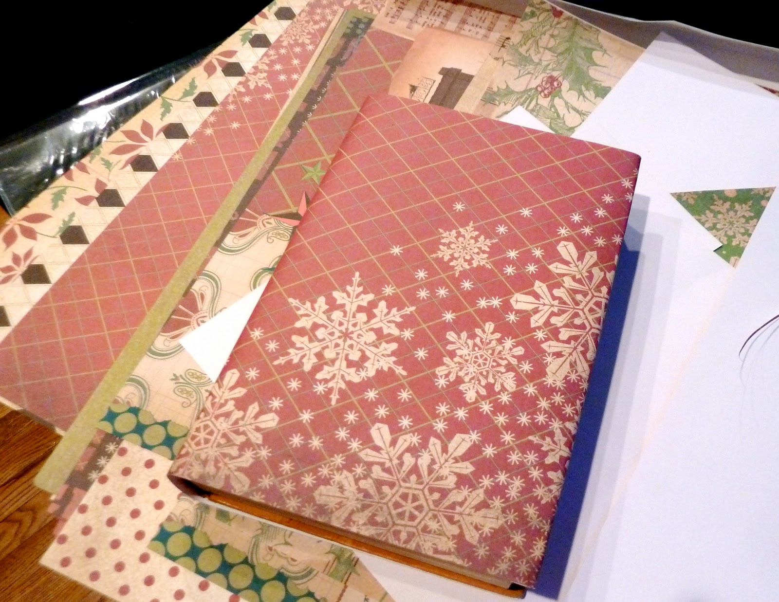 Scrapbook paper books - This Was Such A Quick 5 Minute Project And Adds A Simple Festive Look To Our Coffee Table