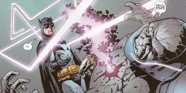 Batman atacando a Darkseid
