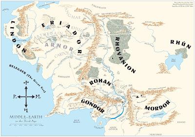 Carte de La Terre Moyenne