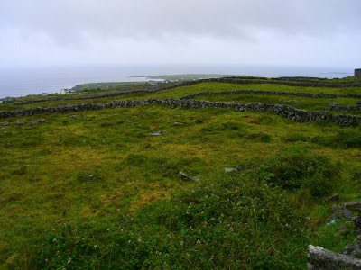View from Dún Arann Lighthouse in Aran Islands in Ireland