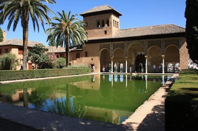 Partal Palace in La Alhambra de Granada