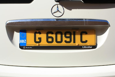Gibraltar yellow number plate