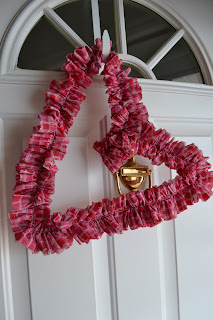 Ruffled Heart Wreath for Valentines Day