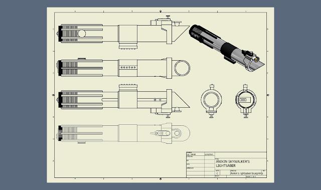 Graflex 3 Cell Lightsabers Pinterest Lightsaber - copy blueprint of a book