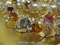 Close up of Sparkly Crystal Rings