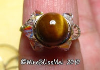 Sparkly Crystal Rings - Tiger Eye