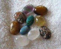 Misc Stones including fluorite, jasper, tiger eyes, rutilated quartz and turquoise