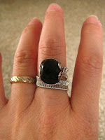 wire woven black onyx ring