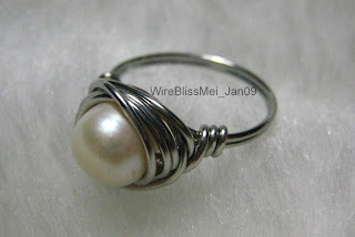 simple pearl nest ring