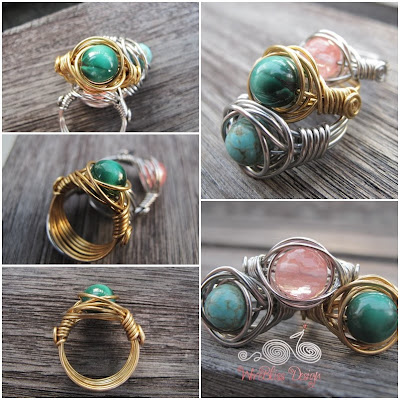 Twice Around the World (TAW) Wire Wrapped Ring tutorial