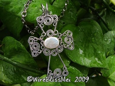 wire wrapped cross was completed recently for its tutorial
