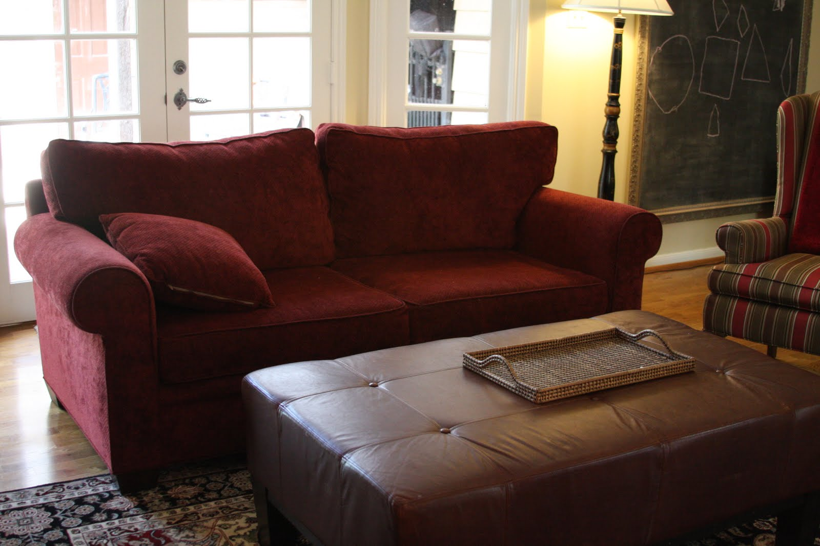 Living Room Ideas With Burgundy Leather Sofa Beds Singapore Christie Chase 233 The Power Of Pattern