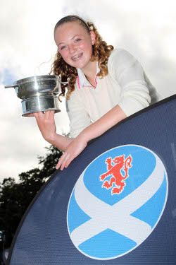 Connie Jaffrey Under 14 Scottish Champion - Click to enlarge