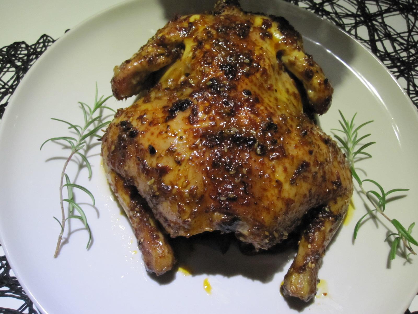 Fırında Soslu Bütün Tavuk Tarifi