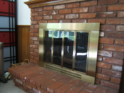 paint brass fireplace doors. The Curse Of The Brass Fireplace Dear Molly Anne