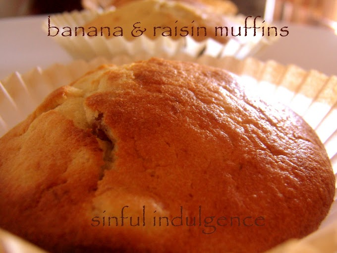 Banana & Raisin Muffins