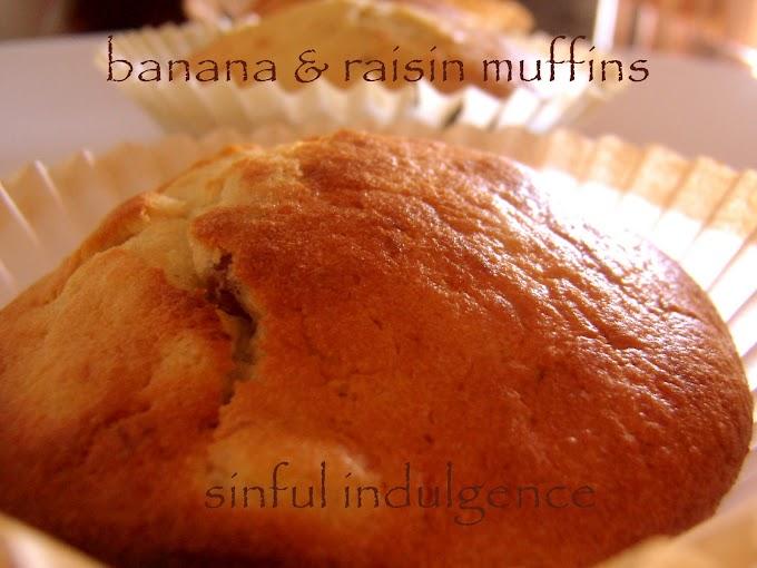 Banana & Raisin Muffins