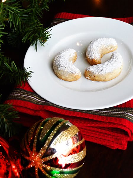 swedish christmas cookies on white plate