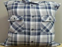 Nakedwindow 16x16 Mens Blue And Gray Flannel Plaid Shirt