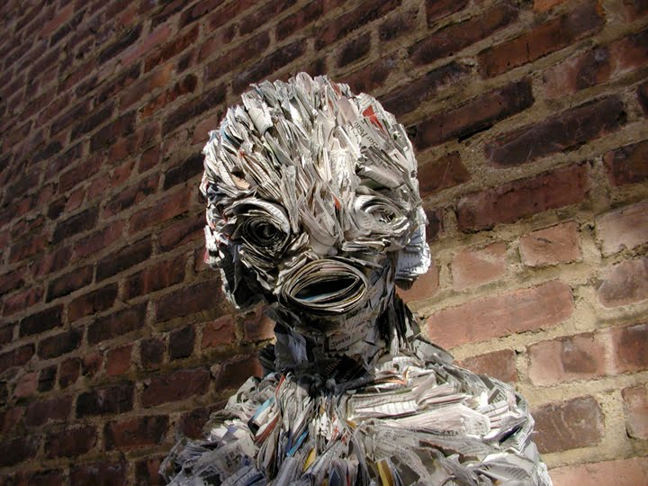Amazing Newspaper Sculptures