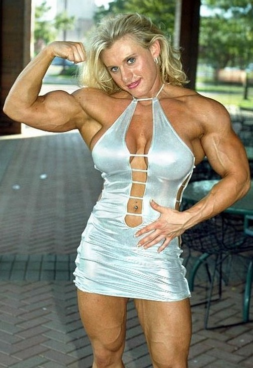 Muscular Womens Dressed Joanna Thomas-3021