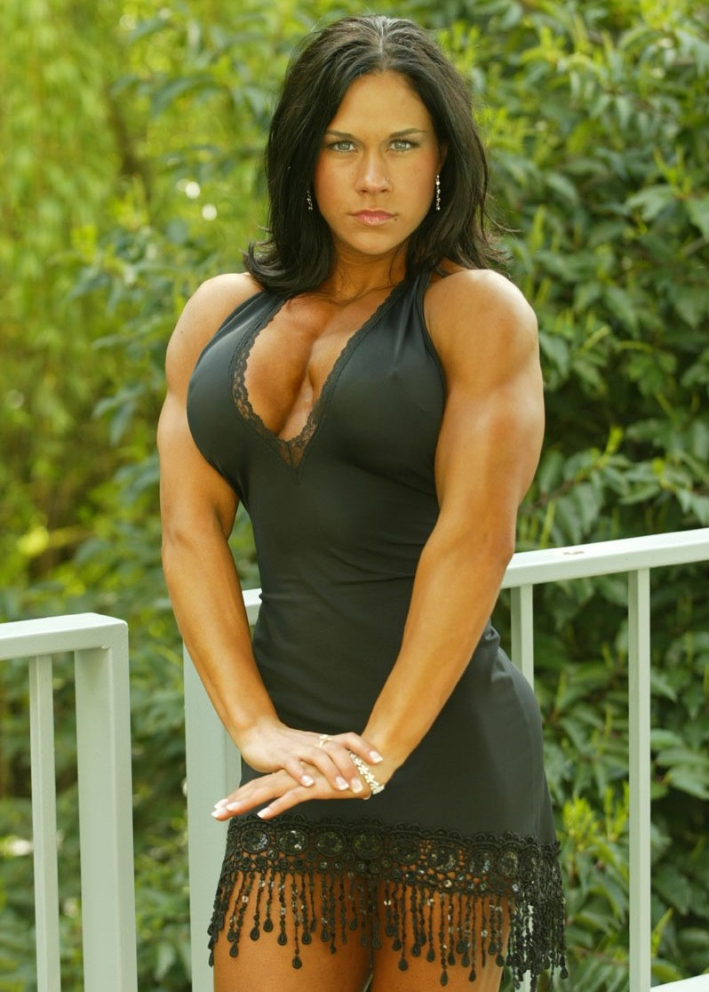 Muscular Womens Dressed: Courtney Morley.