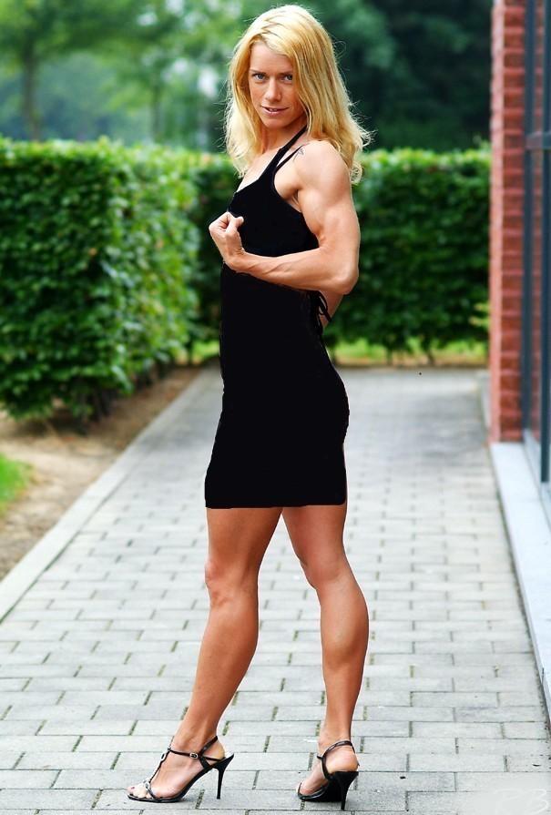 Muscular Womens Dressed: Tiffany Moody.