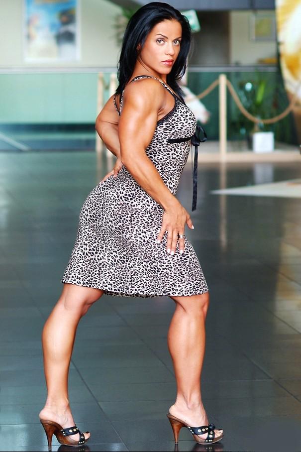 Muscular Womens Dressed: Erin Riley.
