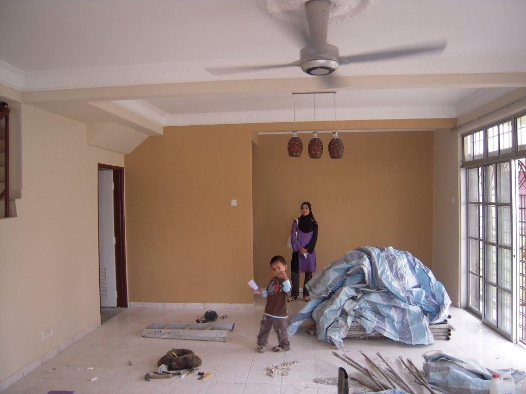 Ruang Tamu Dan Dining Area Sebelum Ubahsuai