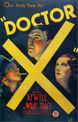 Poster de El Doctor X 1932, un curiosa película dirigida por Michael Curtiz