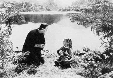 La famosa escena de la niña en Frankenstein
