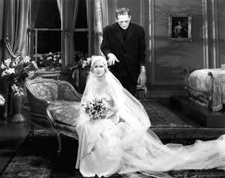 Boris Karloff y Mae Clarke en una secuencia de Frankenstein